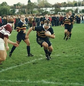 Tim Tunnicliff playing for Old Colfeians Rugby Club