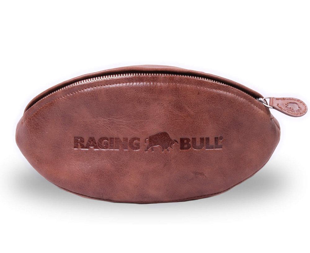 Raging Bull leather wash bag